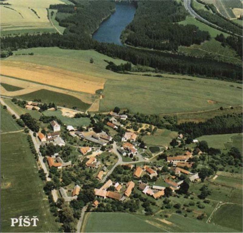Letecká fotografie Píště.